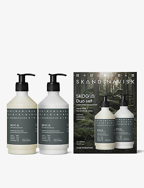 SKANDINAVISK: Skog hand wash and lotion set