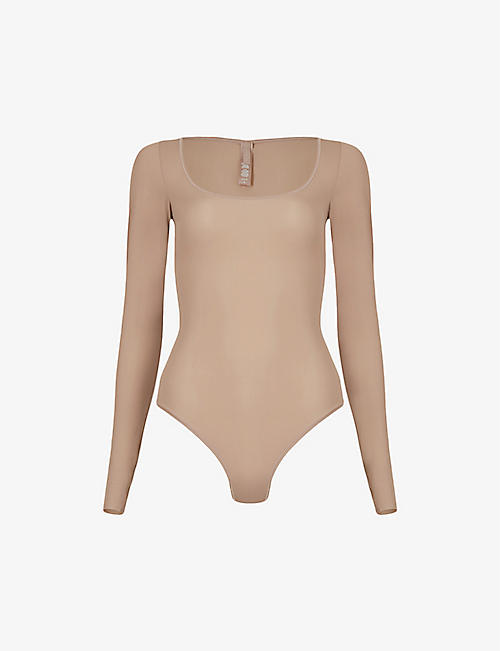 SKIMS: Jelly Sheer long-sleeve stretch-woven body