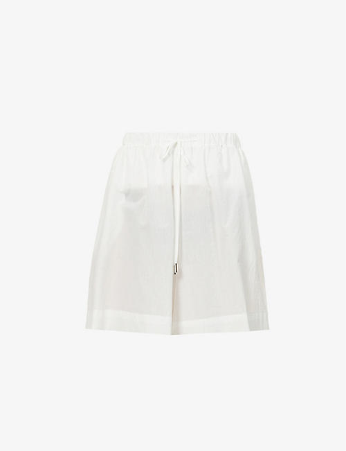 MAX MARA: Fiamma high-rise cotton-blend shorts