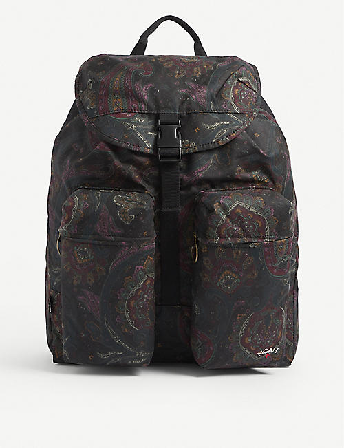 BARBOUR: Barbour x Noah patterned waxed cotton backpack