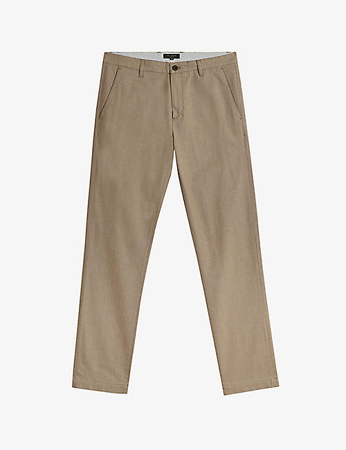 TED BAKER: Retinol regular-fit slim stretch-cotton trousers