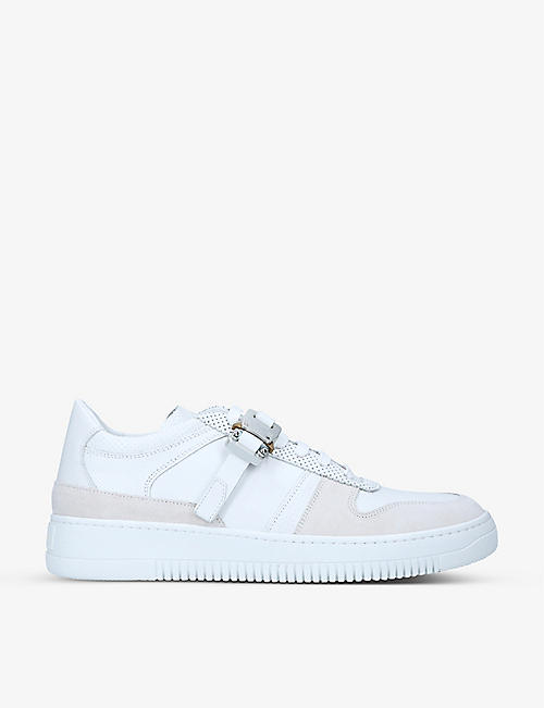 ALYX: Buckle-embellished leather trainers