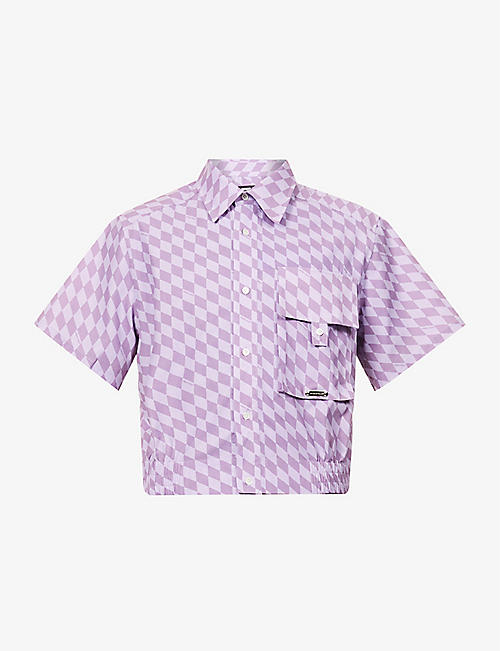 PRIVATE POLICY: Checked relaxed-fit cotton shirt