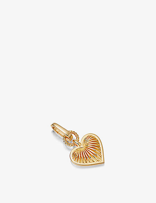 MISSOMA: Gold Ridge Heart 18ct gold-plated clip-on pendant