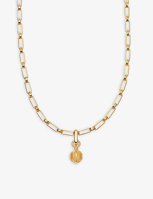 MISSOMA: Aegis Sphere 18ct gold-plated necklace