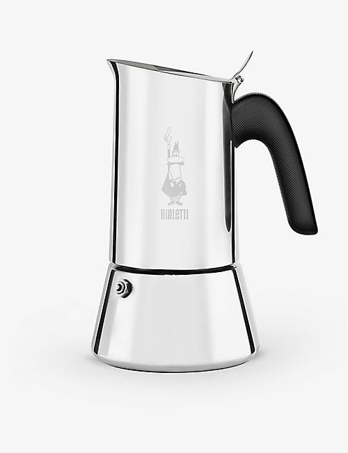 BIALETTI: Venus Induction six cup stainless steel and plastic coffee maker