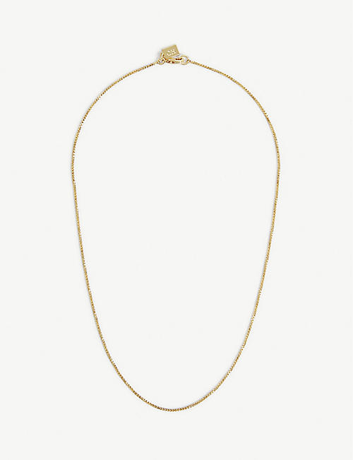 CRYSTAL HAZE: 18ct yellow gold-plated chain necklace