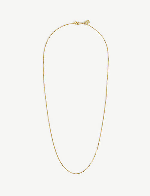 CRYSTAL HAZE: 18ct yellow gold-plated brass chain necklace