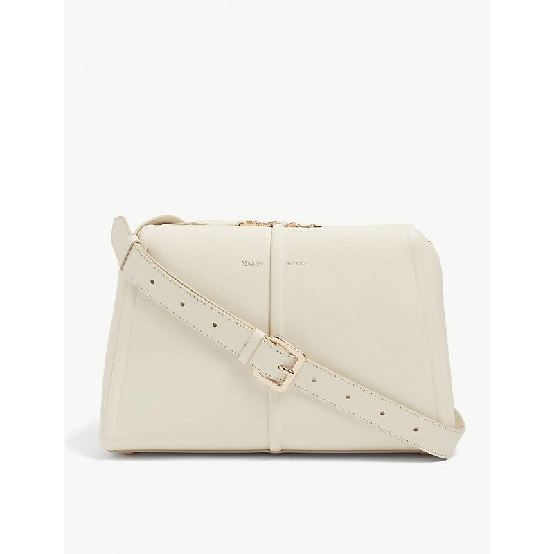 Elsac branded leather cross-body bag