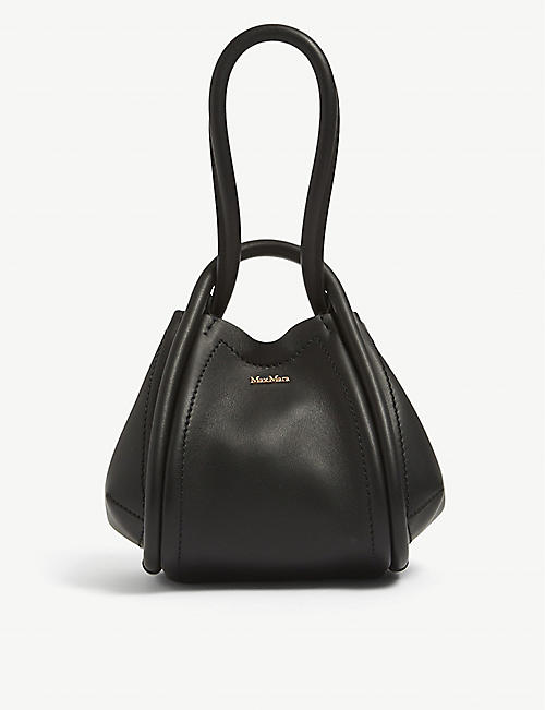 MAX MARA: Mini Marine leather hand bag