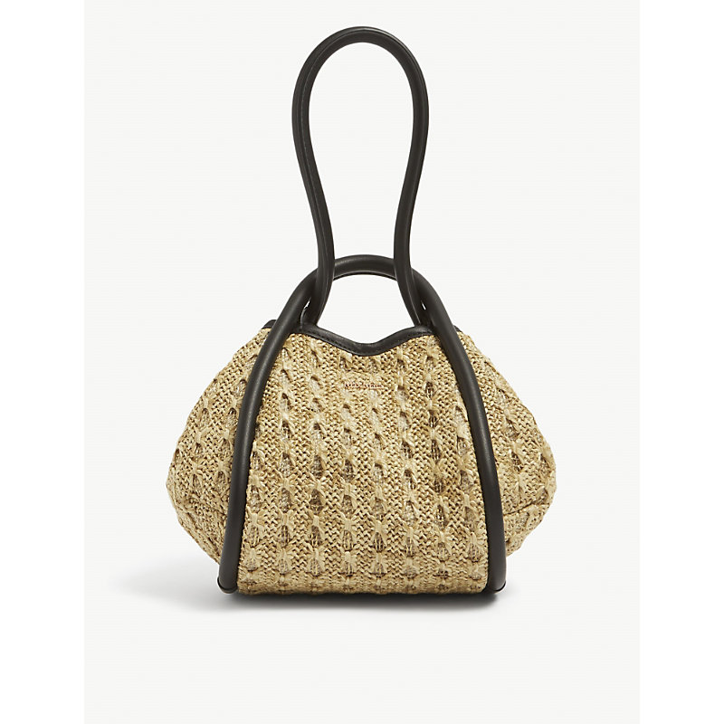 Max Mara Leathers MINI MARINE CROCHETED RAFFIA HAND BAG