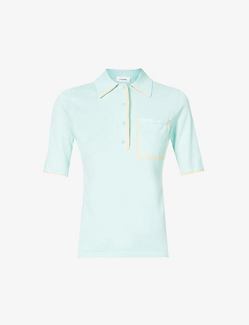 SPORTMAX: Ninfa cotton-knit polo shirt