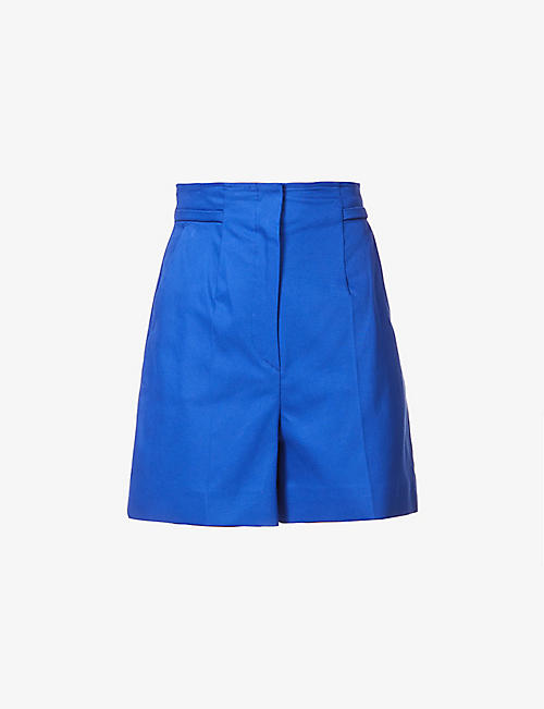 SPORTMAX: Placido high-rise stretch-cotton shorts