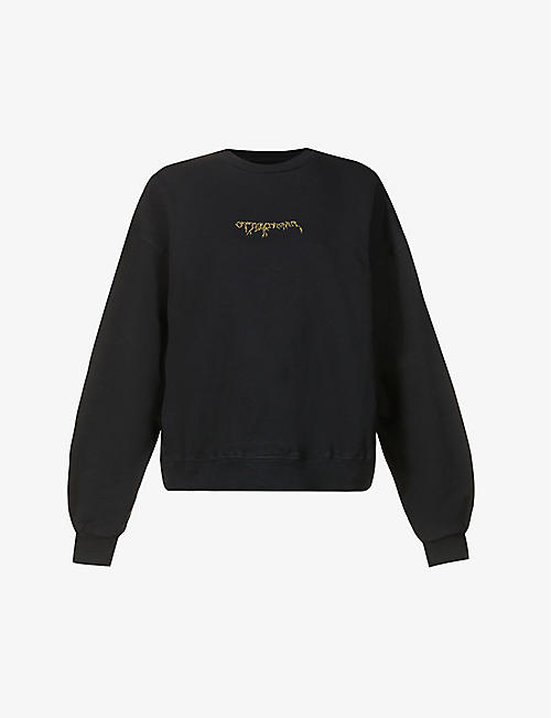 OTTOLINGER: Logo-embroidered cotton-jersey sweatshirt