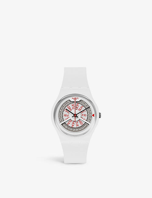 SWATCH: GN727 silicone and plastic quartz watch