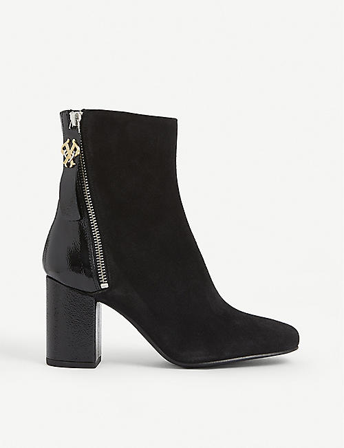 PINKO: Giulliet suede ankle boots