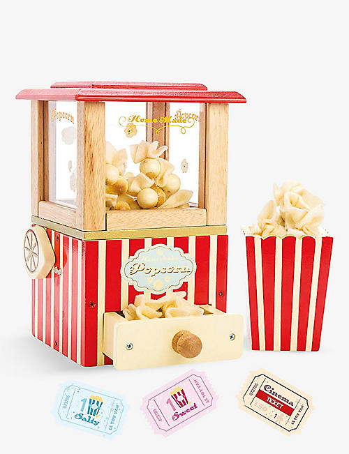 LE TOY VAN: Vintage Popcorn Machine wooden toy set