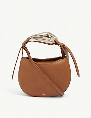 CHLOE: Kiss small leather cross-body bag