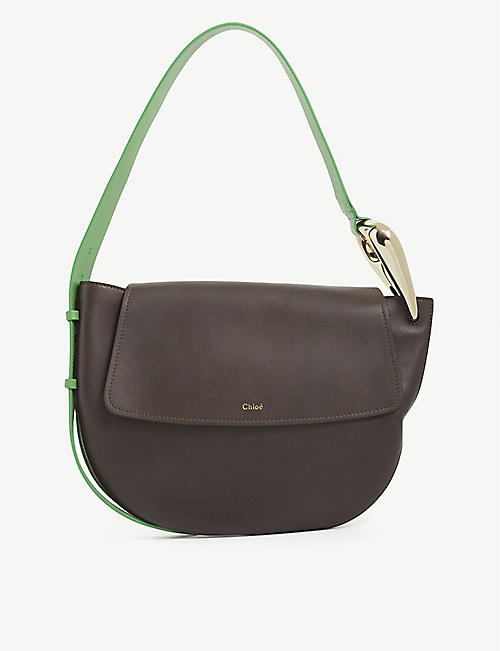 CHLOE: Kiss leather shoulder bag