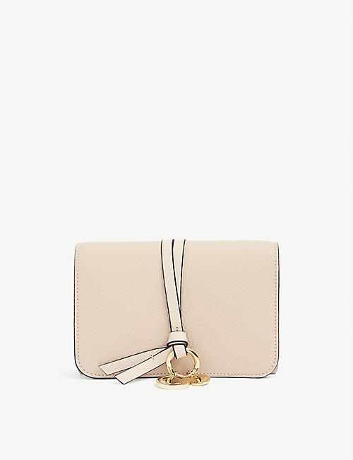 CHLOE: ABC grained leather flap wallet