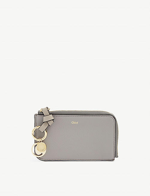 CHLOE: ABC grained leather cardholder