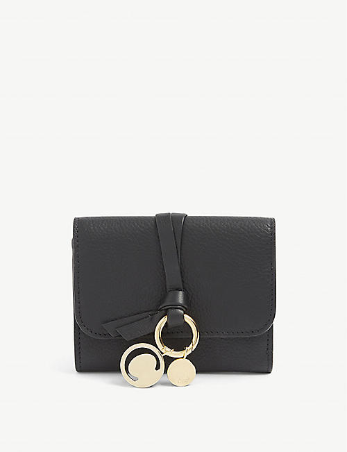 CHLOE: ABC grained leather trifold wallet