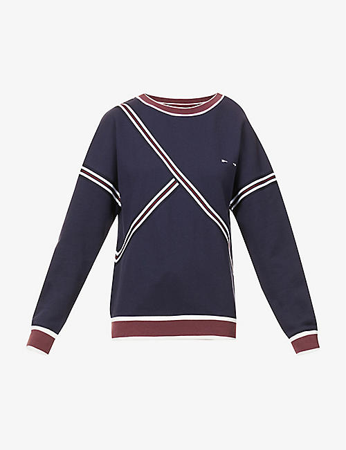 THE UPSIDE: Captain striped cotton-jersey sweatshirt