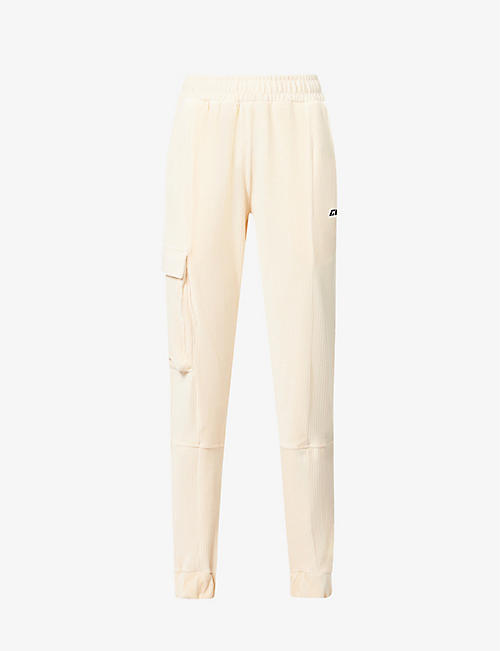 CD FEMME: Cargo cotton-blend corduroy jogging bottoms