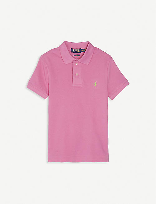 RALPH LAUREN: Logo-embroidered cotton polo shirt 2-14 years