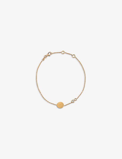 KIMAI: Memory 18ct recycled rose-gold and 0.08ct diamond bracelet