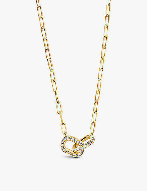 KIMAI: Unity 18ct recycled-yellow gold and 0.63ct brilliant-cut diamond necklace