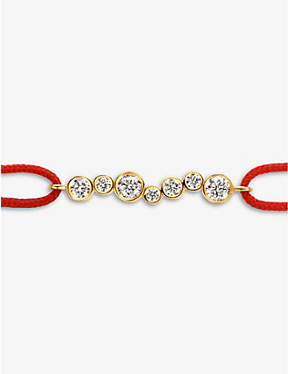 KIMAI: Amie 18ct recycled-gold and 0.19ct diamond bracelet