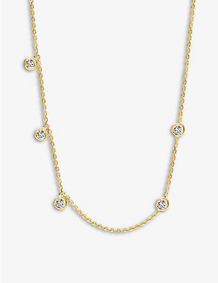 KIMAI: Ivy 18ct recycled yellow-gold and 0.25ct brilliant-cut diamond necklace