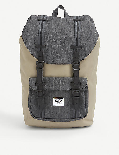 HERSCHEL SUPPLY CO: Little America logo-patch woven backpack