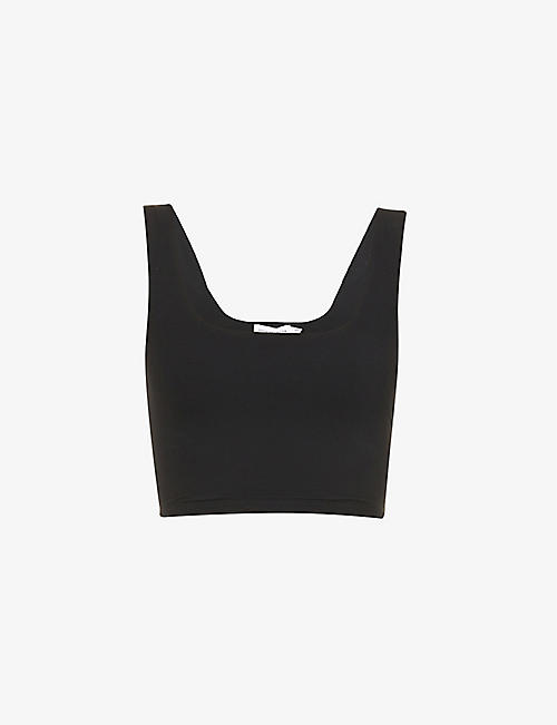 GOOD AMERICAN: Cropped stretch-jersey top