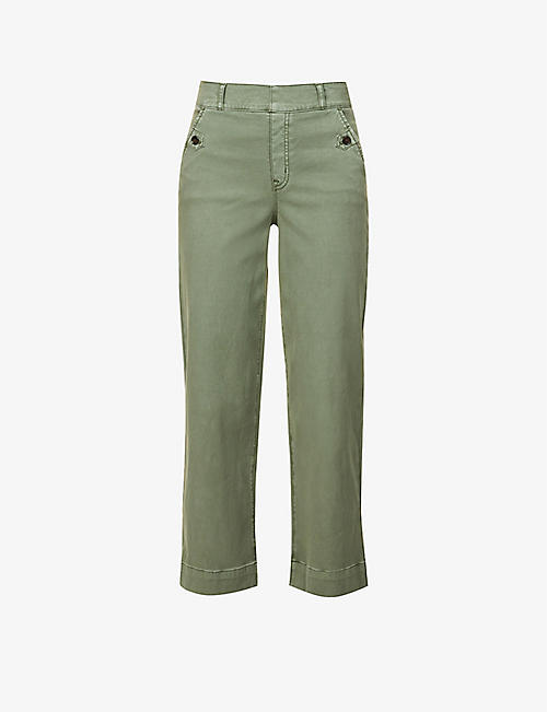 SPANX: Skinny high-rise cotton-blend trousers