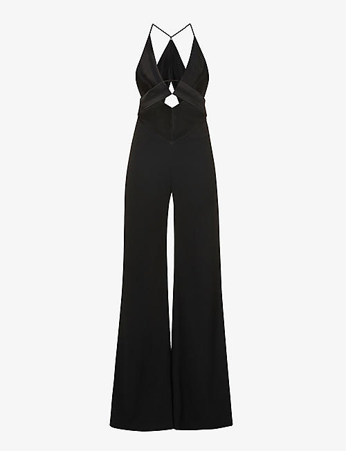 GALVAN: Prism cut-out crepe jumpsuit
