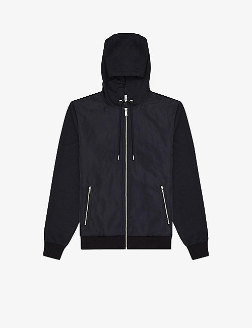 REISS: Claude cotton-blend hooded jacket