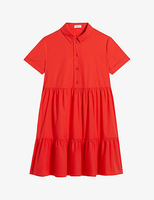 CLAUDIE PIERLOT: Ricati short sleeve cotton mini dress