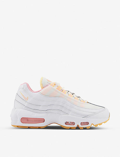 NIKE: Air Max 95 panel led mesh and leather trainers