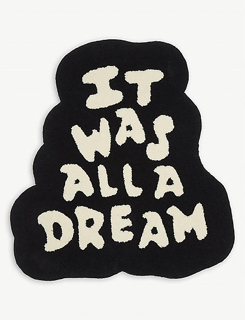 HYPE RUGS: It Was All A Dream wool rug 82cm x 71cm