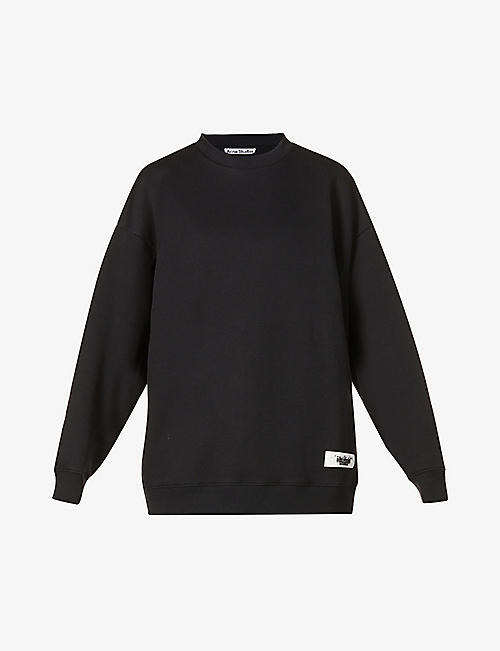 ACNE STUDIOS: Fienele branded-tab cotton-blend sweatshirt