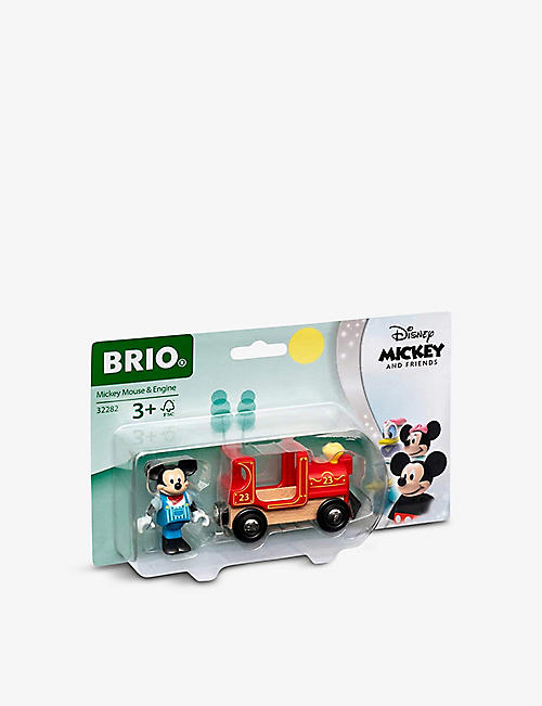 BRIO: Disney Mickey Mouse & Engine wooden train playset