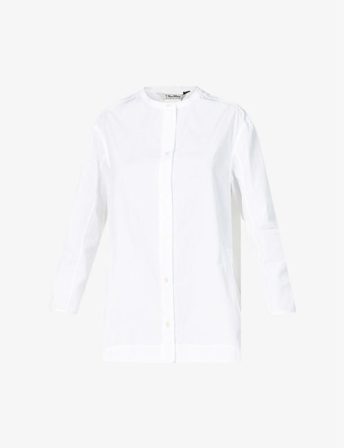 S MAX MARA: Anny relaxed-fit cotton shirt