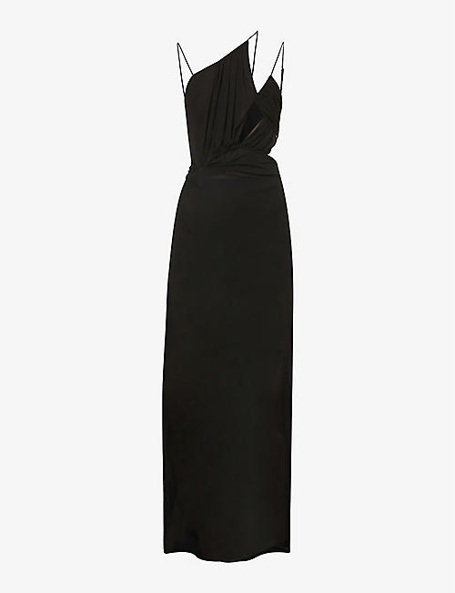 NENSI DOJAKA: Asymmetric woven maxi dress