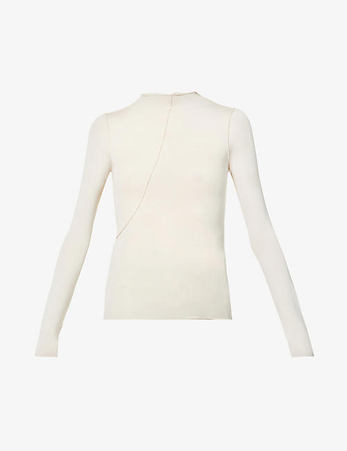 THE LINE BY K: Zane high-neck stretch-jersey top
