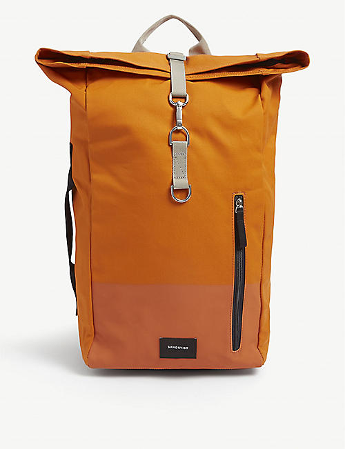 SANDQVIST: Sand cotton-blend backpack