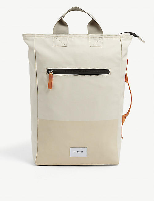 SANDQVIST: Sand Tony recycled-polyester backpack