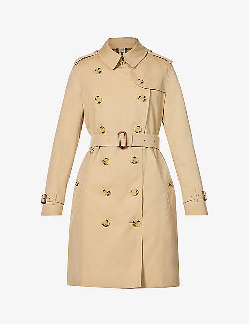 BURBERRY: Kensington short cotton trench coat