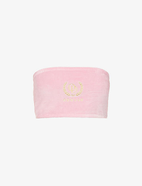 ODOLLS COLLECTION: Geer logo-embroidered cotton-blend bandeau